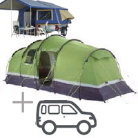 big tent + car