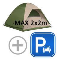 small 2-man tent + car/motor